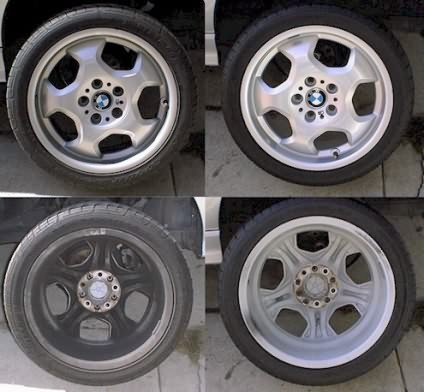 Pictures of Cleaned BMW Wheels