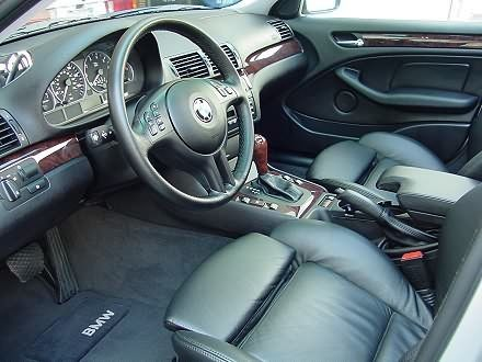 BMW 330i Black Leather Interior