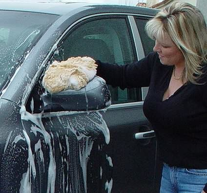 Use a proper car wash mitt