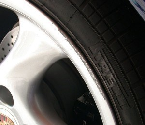 Curbed Alloy Wheel Damage