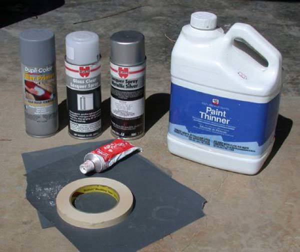 DIY wheel reconditioning supplies