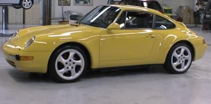 Detailing a Porsche