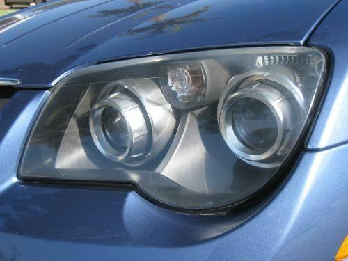 Headlight after restoration with 3M